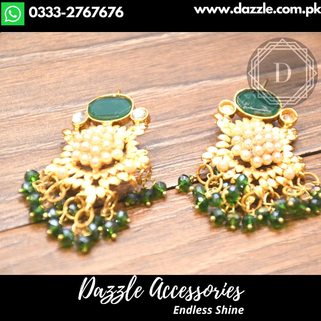 Green Trendy Earrings