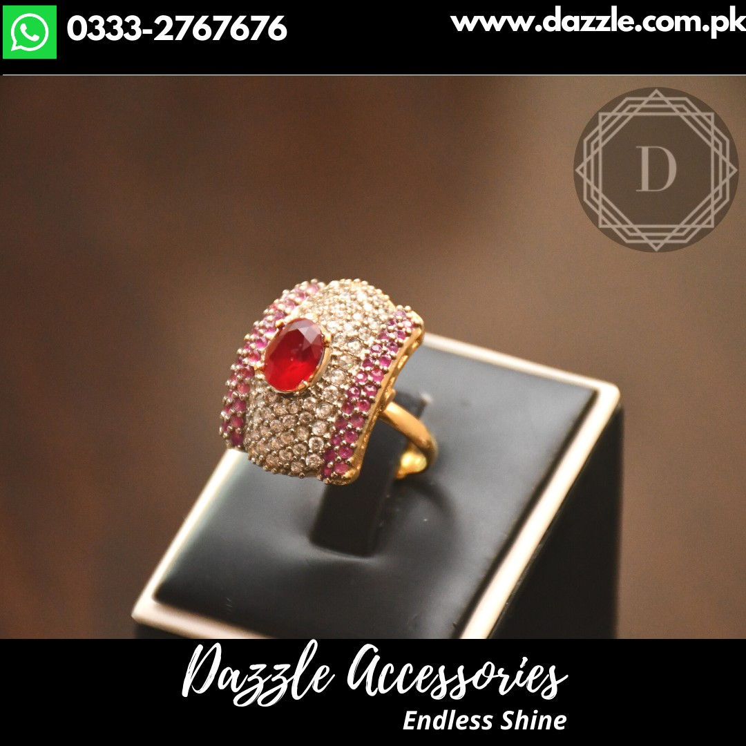 Ruby Zircon ring