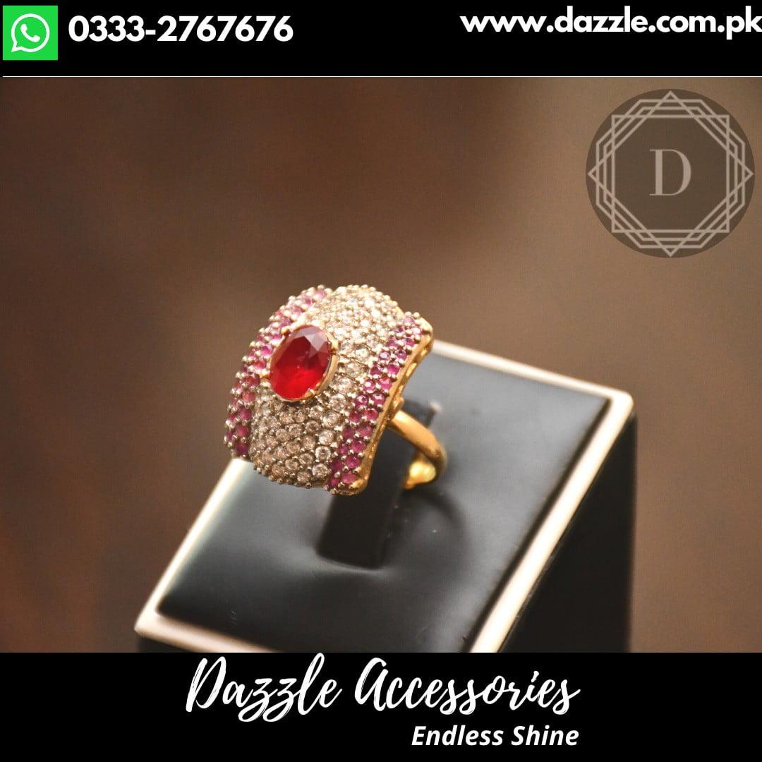 Ruby Zircon ring